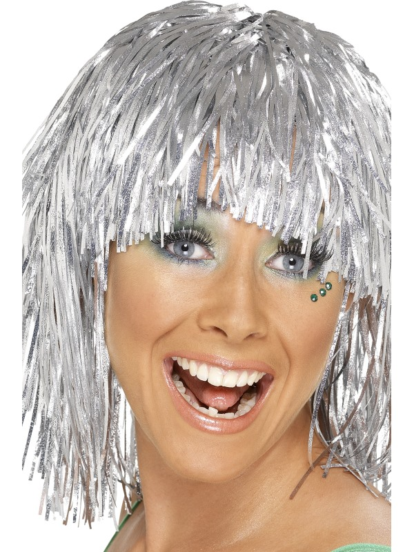 Ladies Cyber Silver Wig