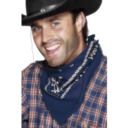 Adult Blue Cowboy Bandana