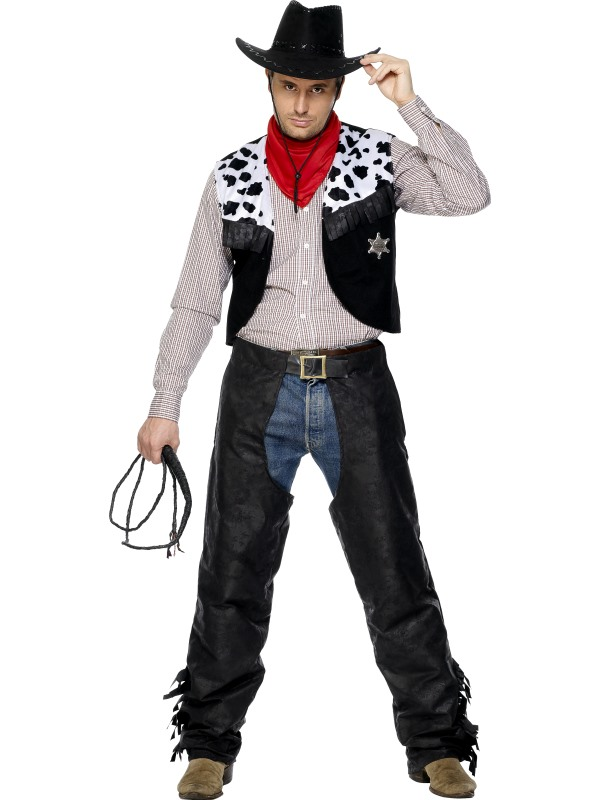 Black Leather Cowboy Costume