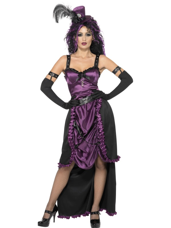 Purple and Black Gothic Witch Dress