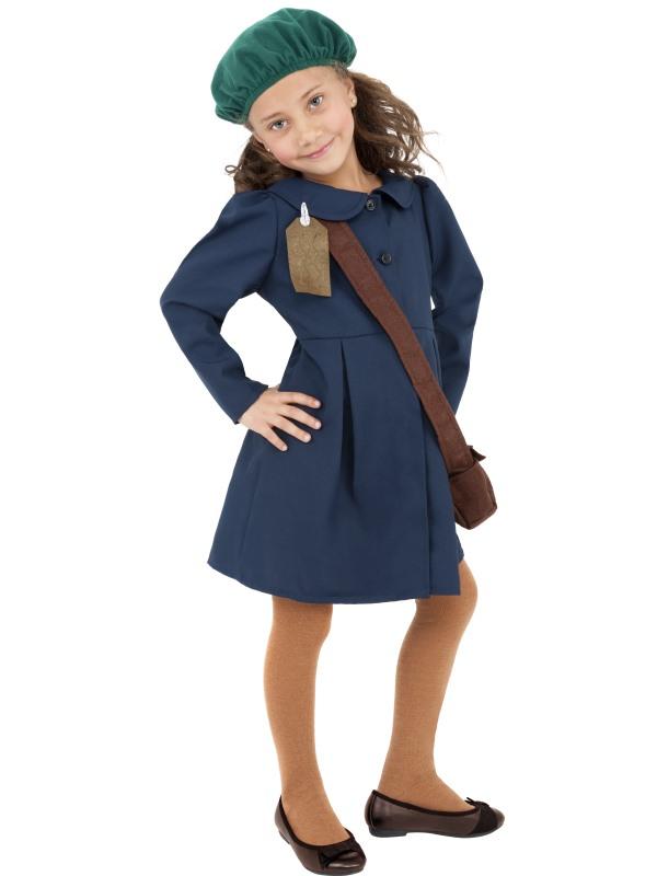 Childs WW2 Evacuee Girl Costume