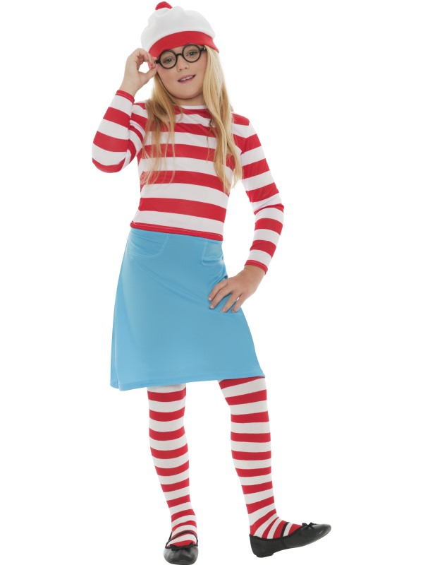 Childs Where's Wally Wenda Costume