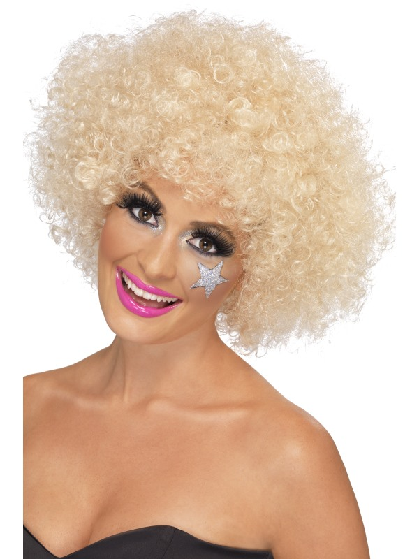 Ladies Blonde Afro Style Wig