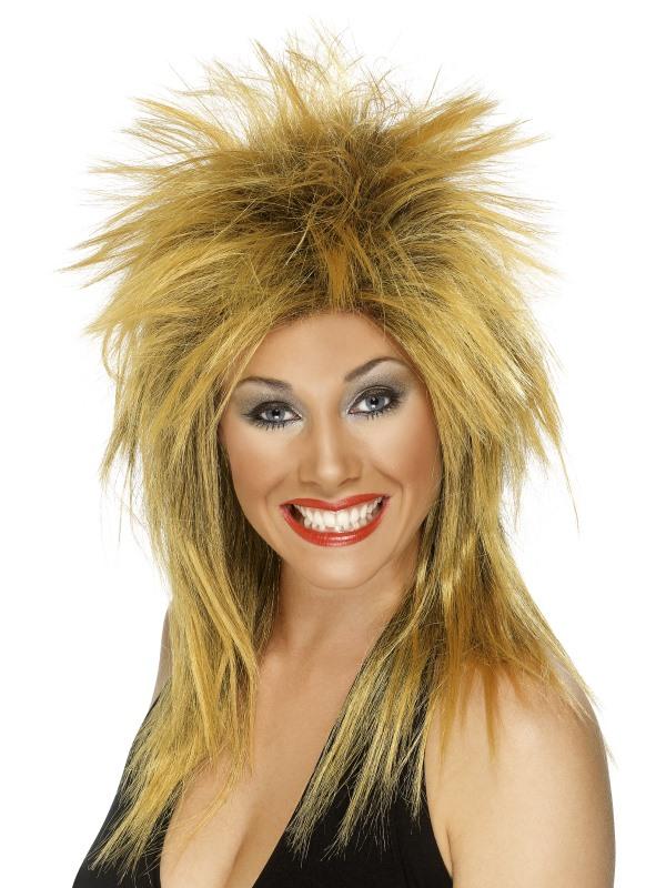 Ginger-Black Tina Turner Style Wig