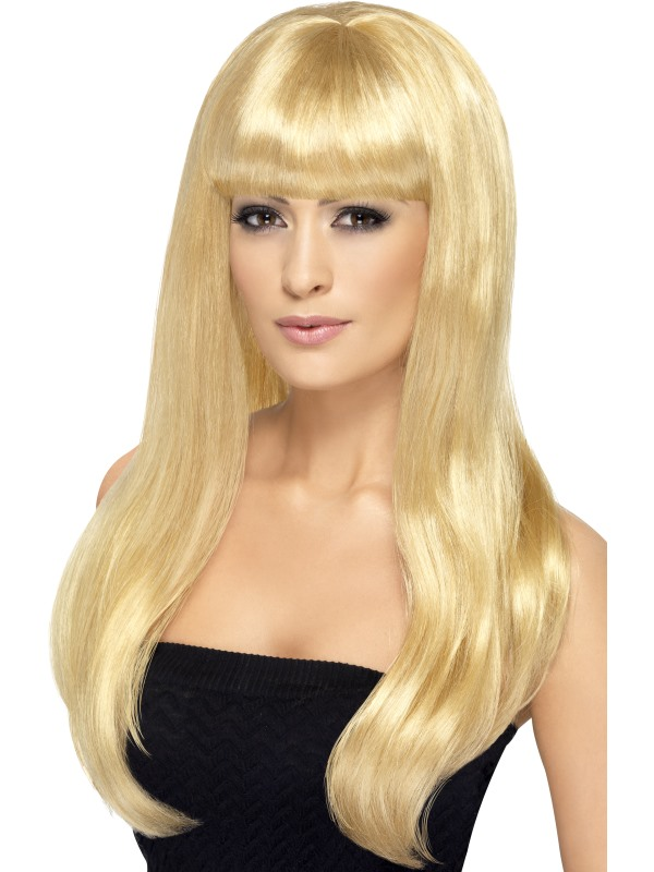 Long Straight Blonde Wigwith Fringe