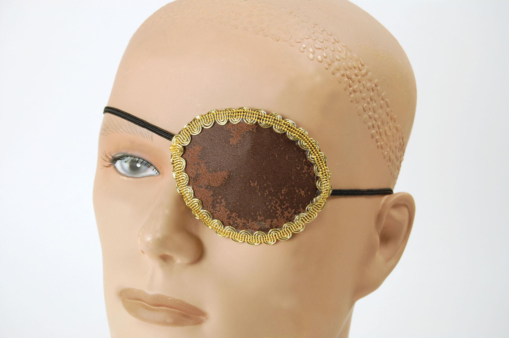 Pirates Brown Eye Patch