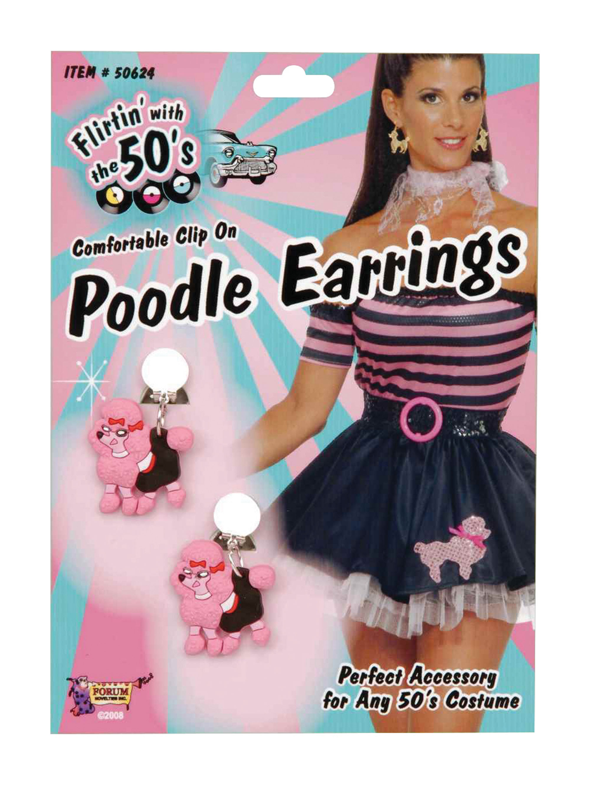 Clip on Pink Poodle Earrings
