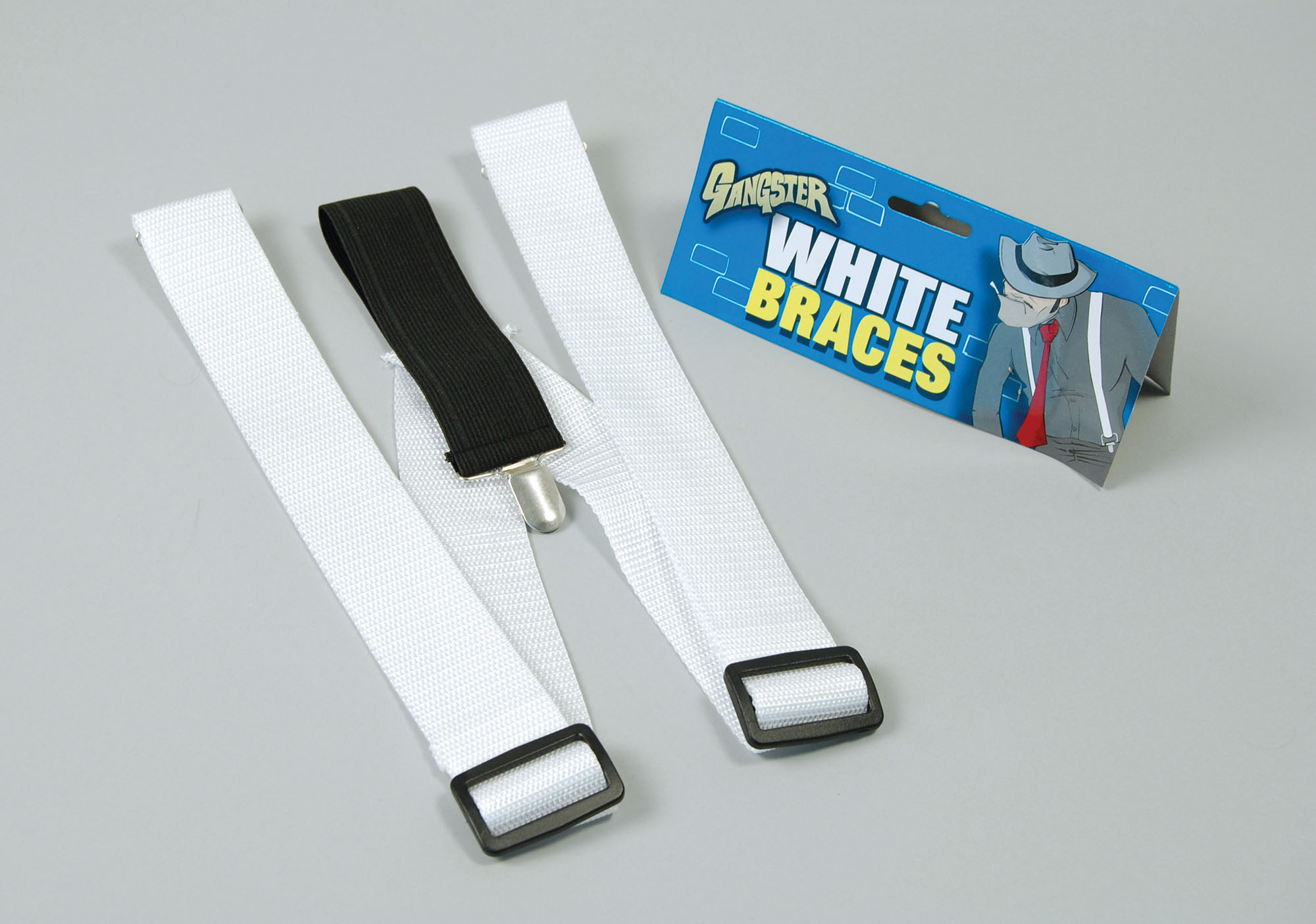 White Gangster Braces