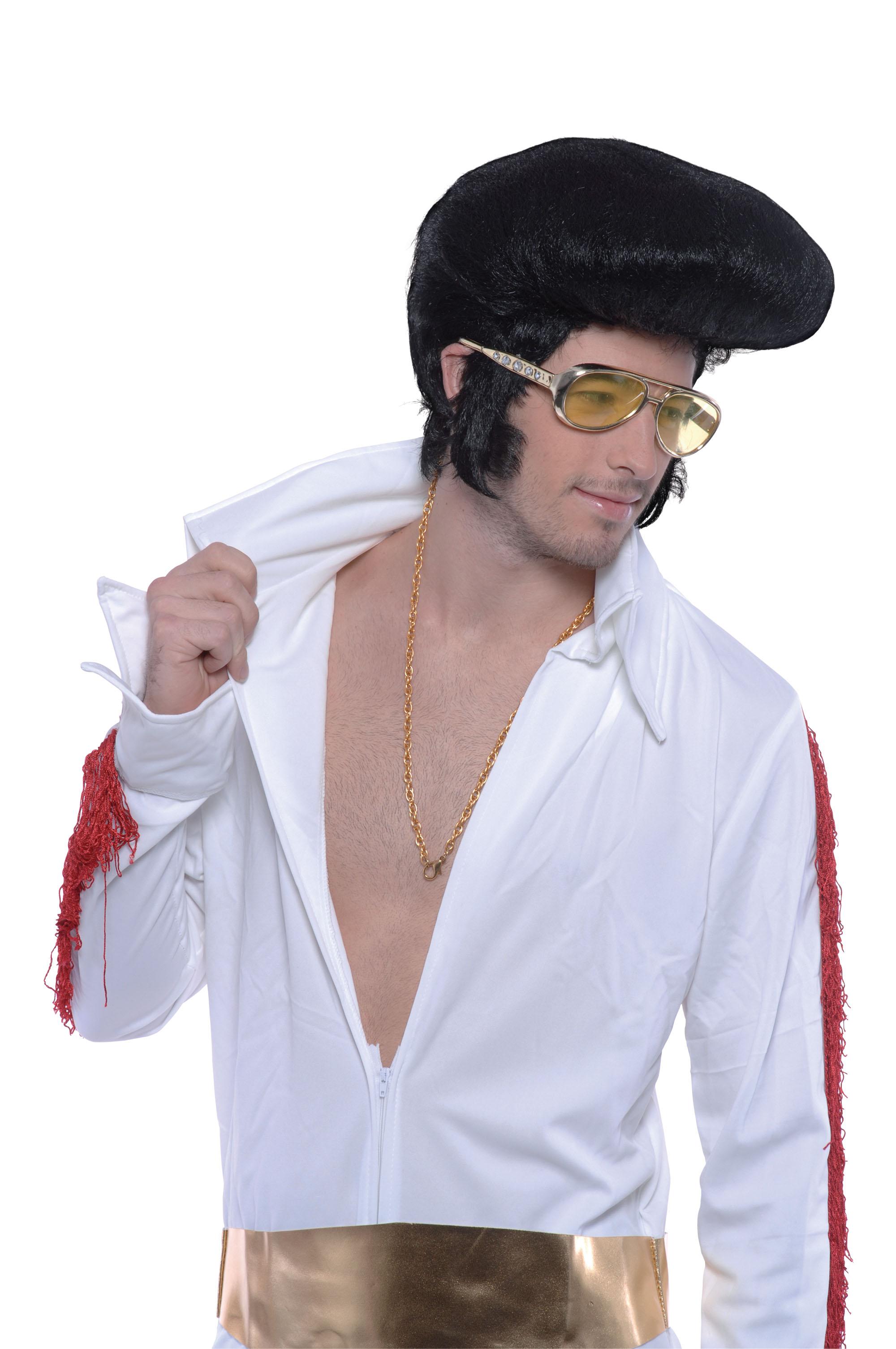 Rock Star, Elvis Black Deluxe Wig