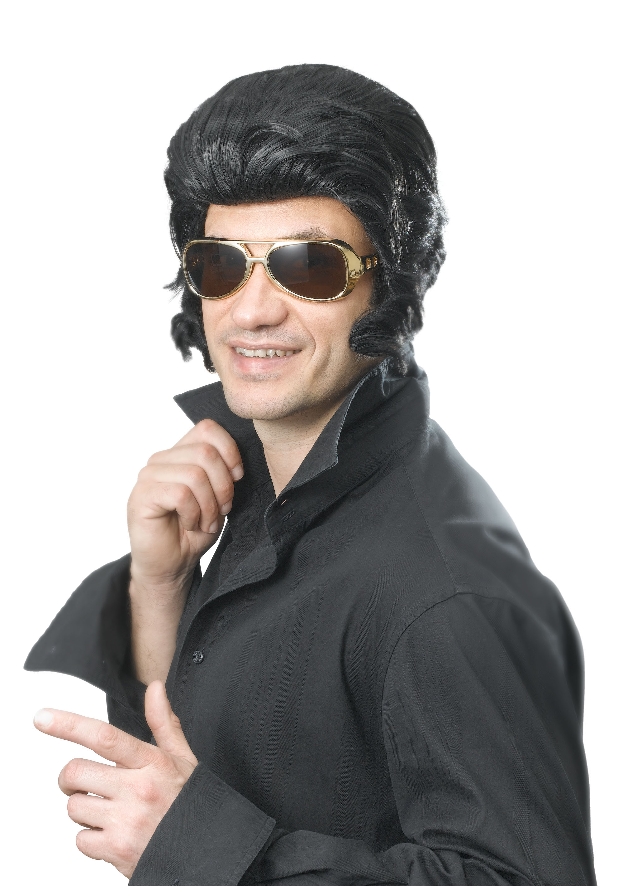 Adult Black Elvis Wig