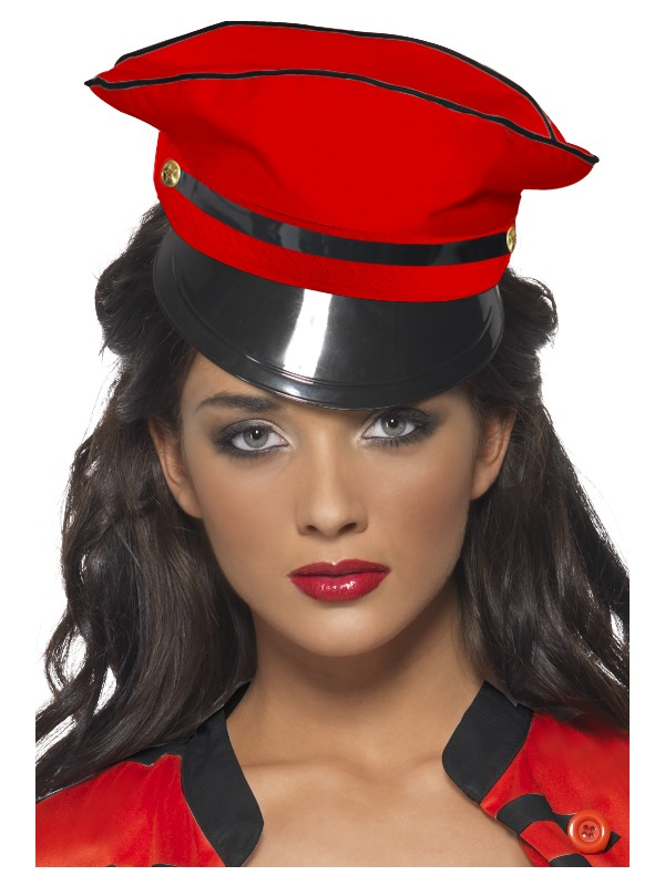 Red Military Popstar Hat