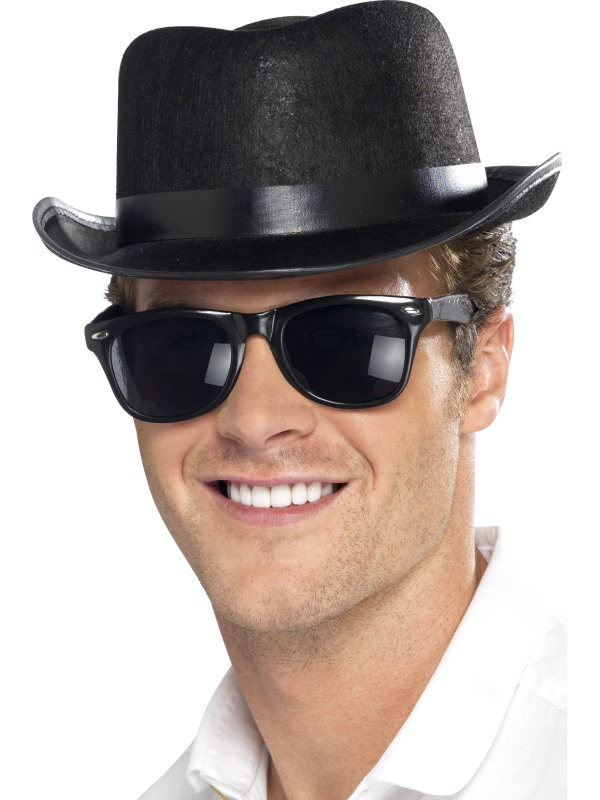 Adult Black Fedora Hat