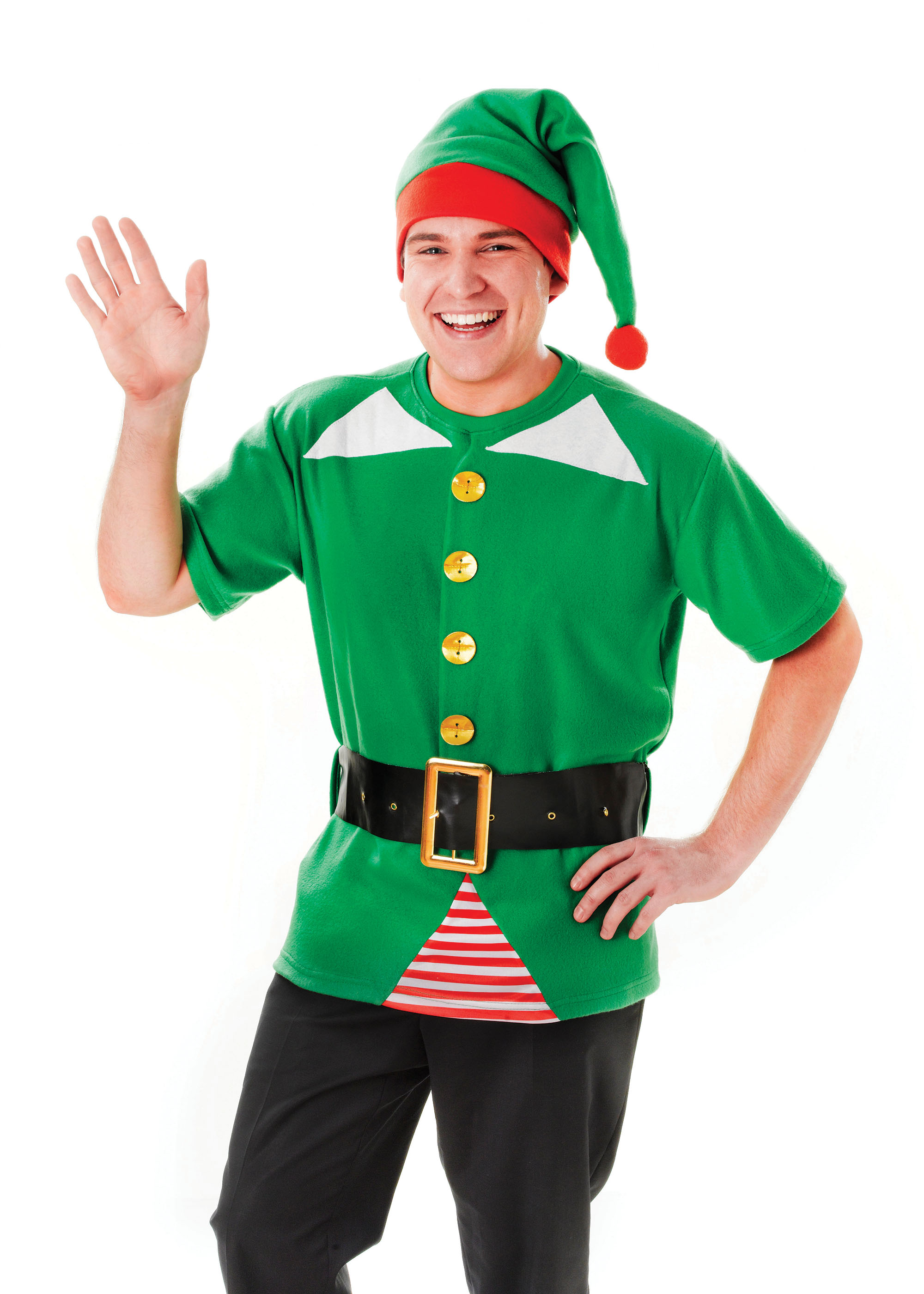 Male Jolly Elf Costume