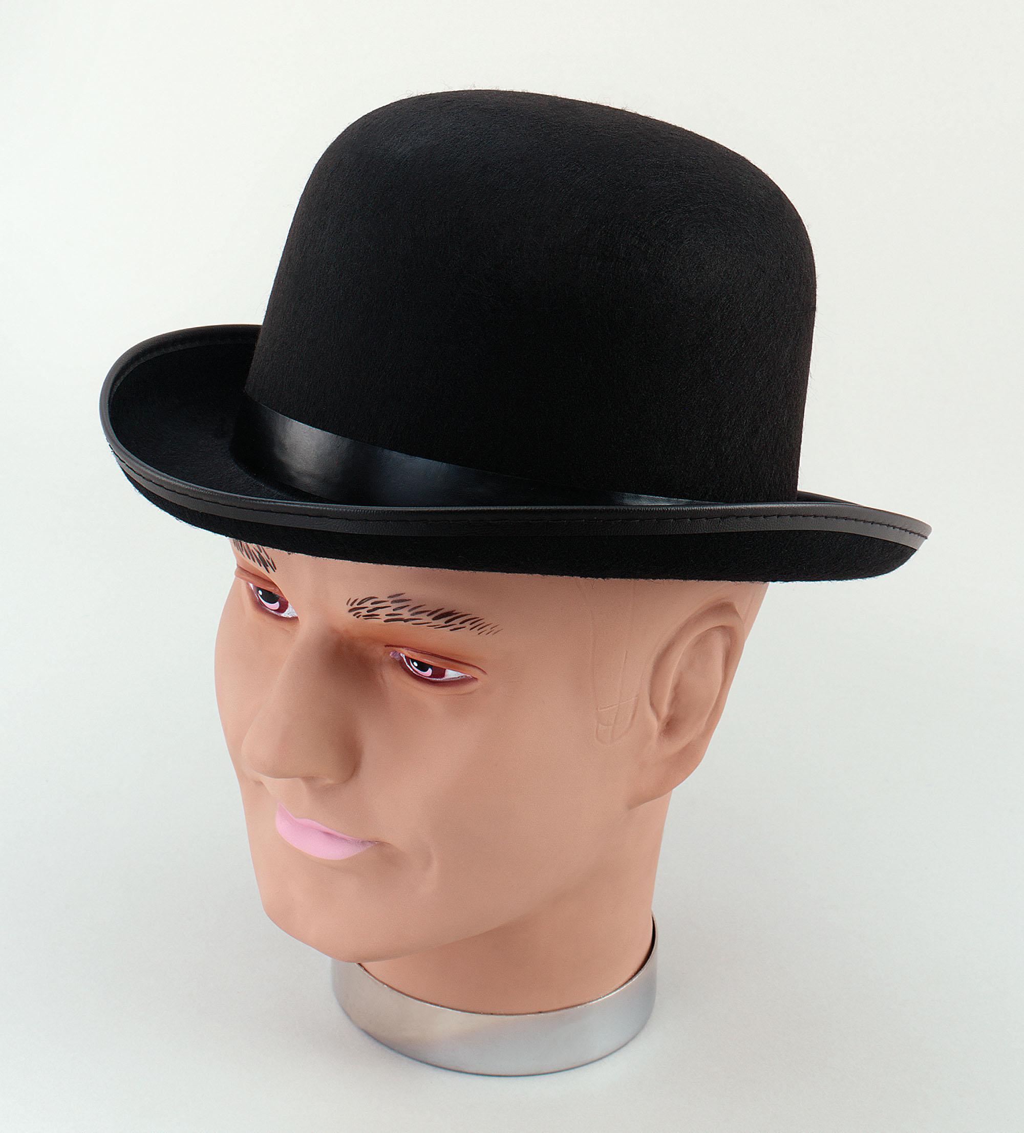 Adult Black Bowler Hat