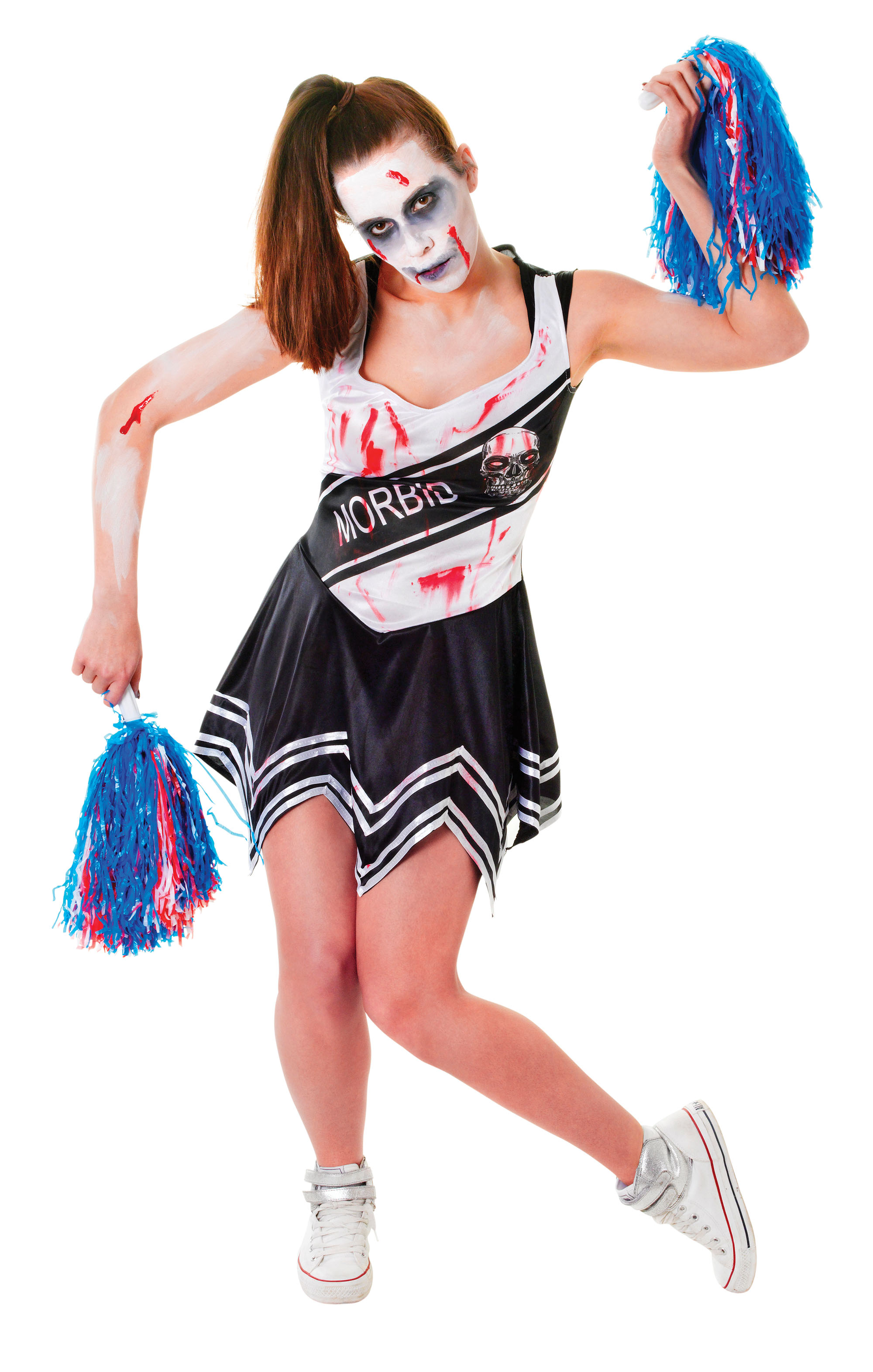 Zombie Cheerleader Black Dress