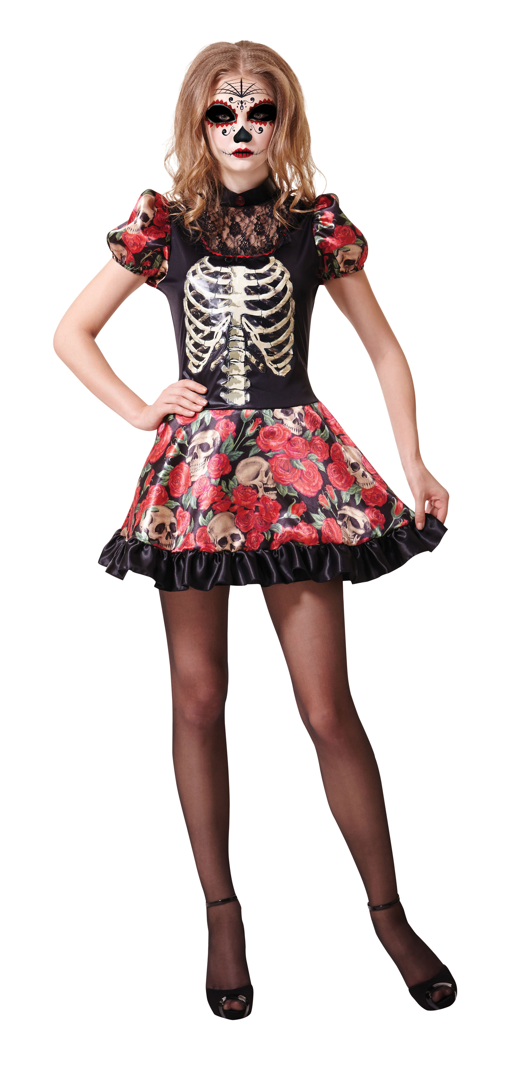 Halloween Day of the Dead Doll Costume