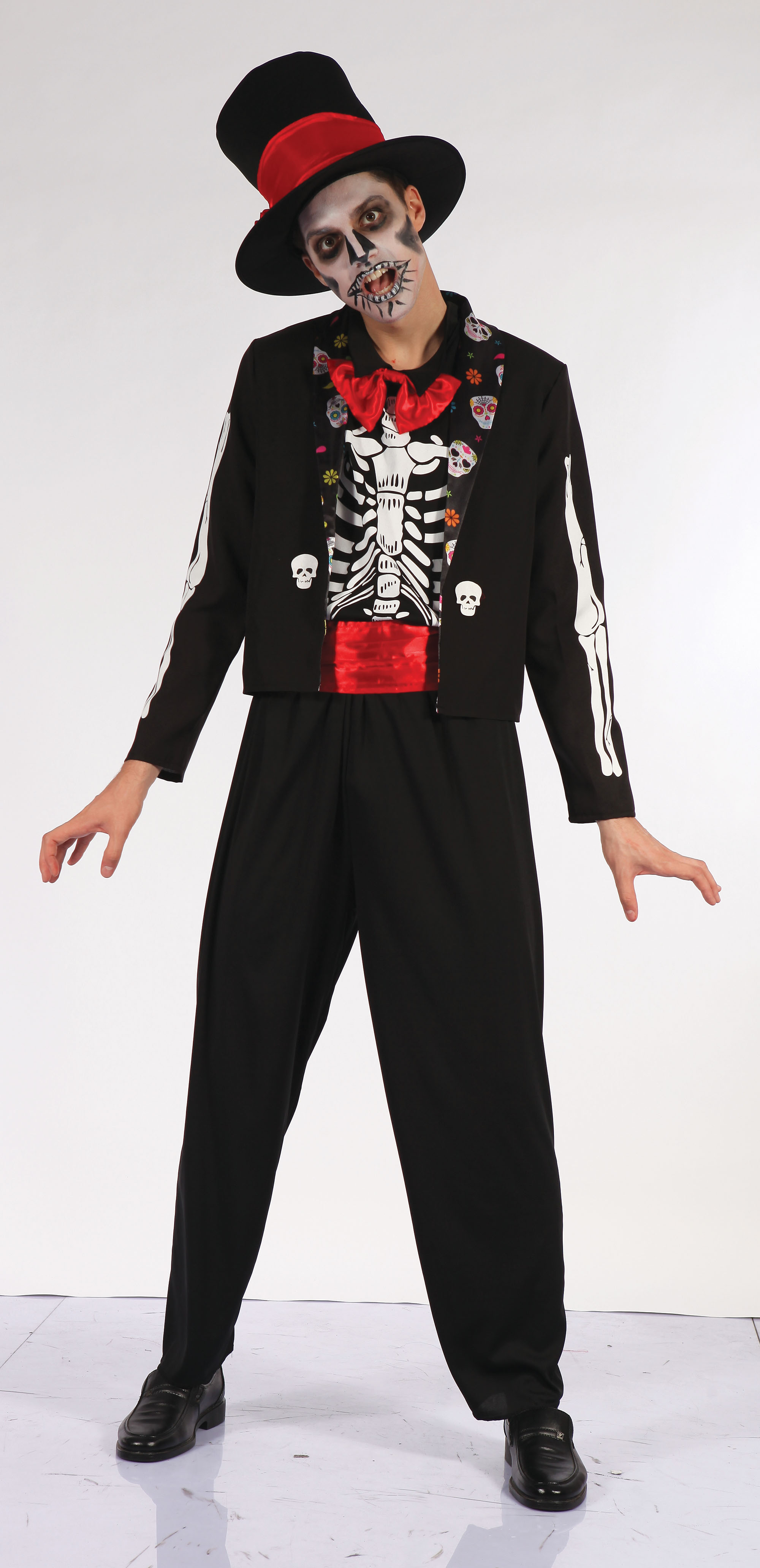 Adult size Day of the Dead Bone Suit