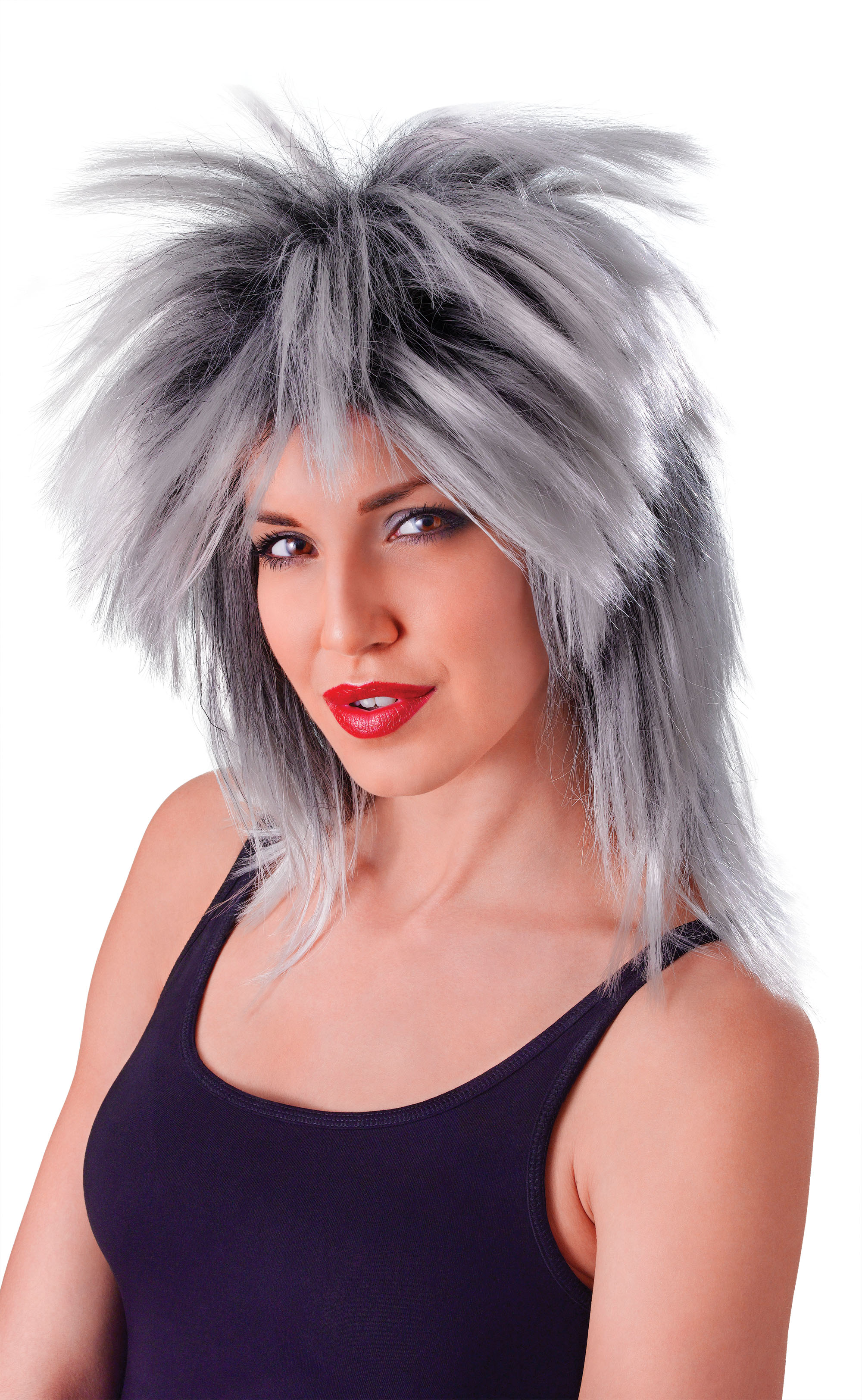 Tina Two Tone Grey-Black Wig