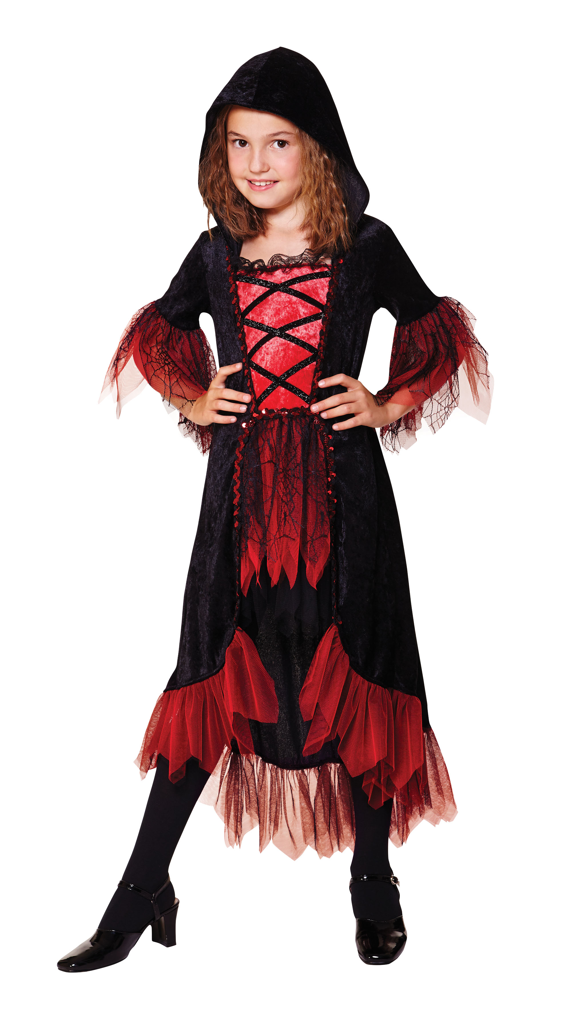 Child's Vampire Girl Hooded Dress