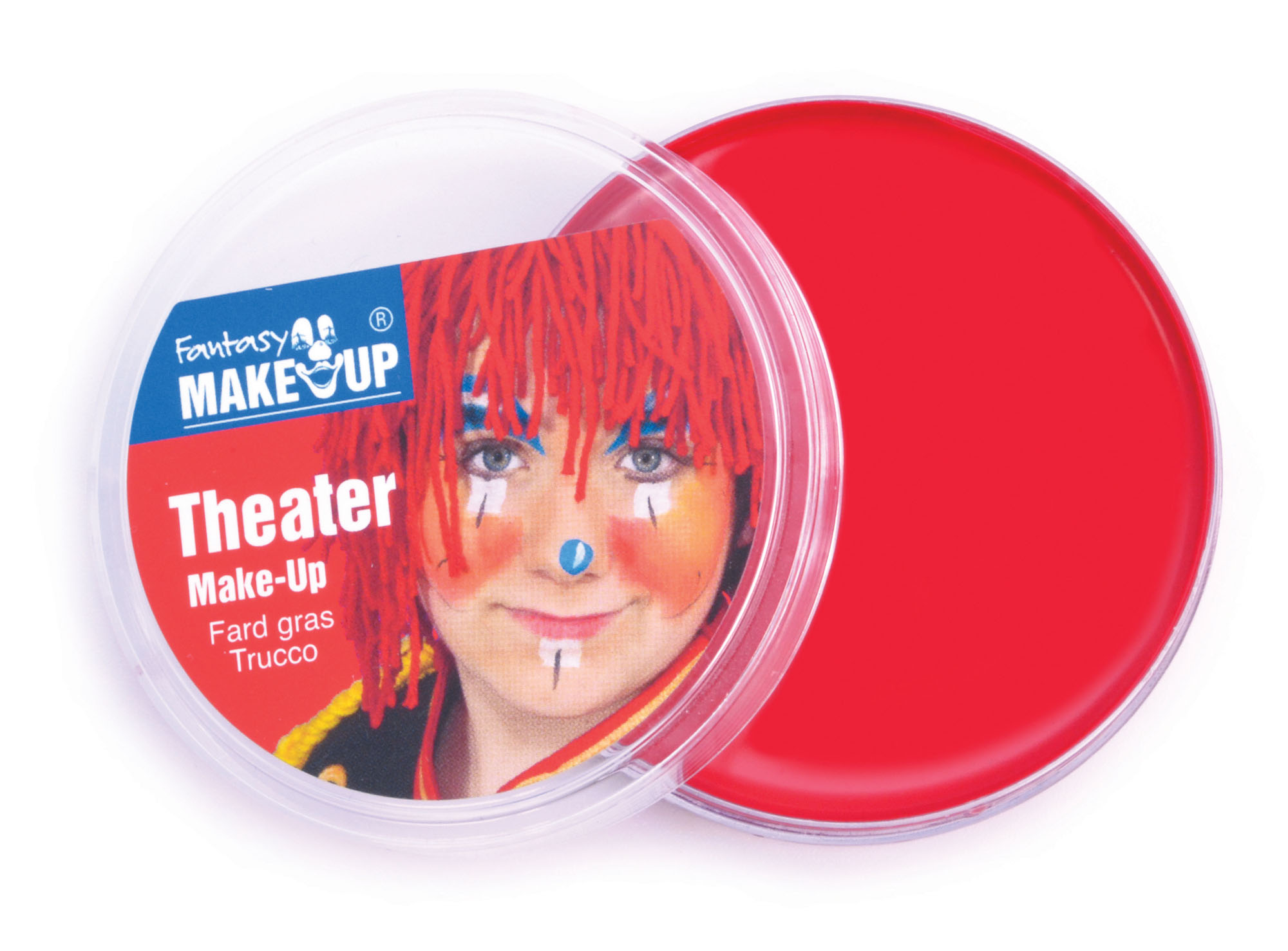 Red Face and Body Theater Make up