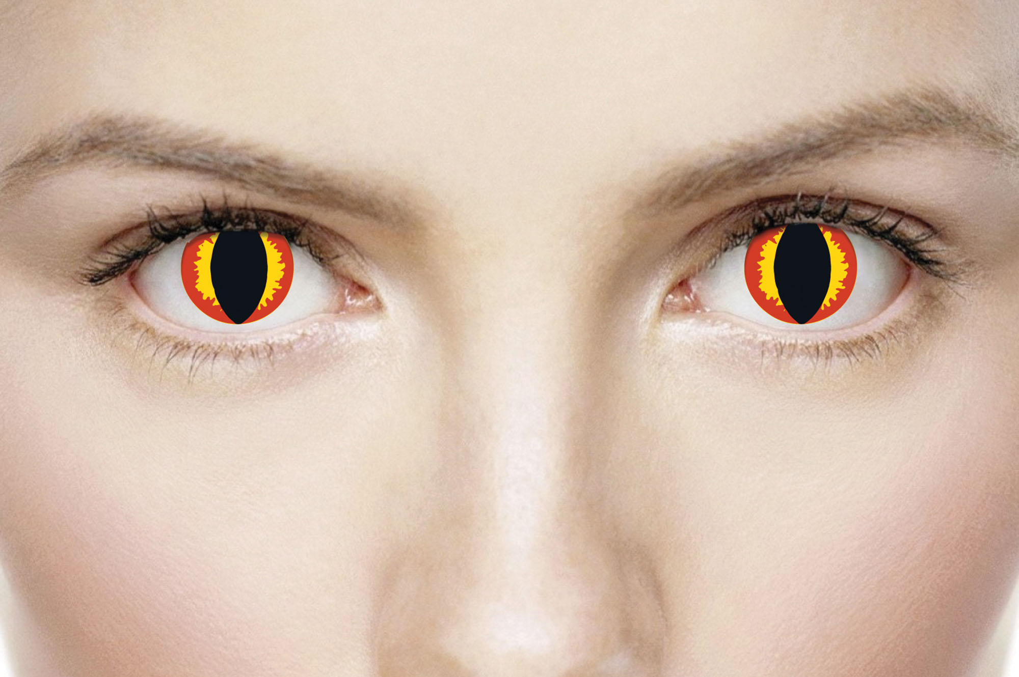 Black-Yellow-Red. One Day Wear Lenses