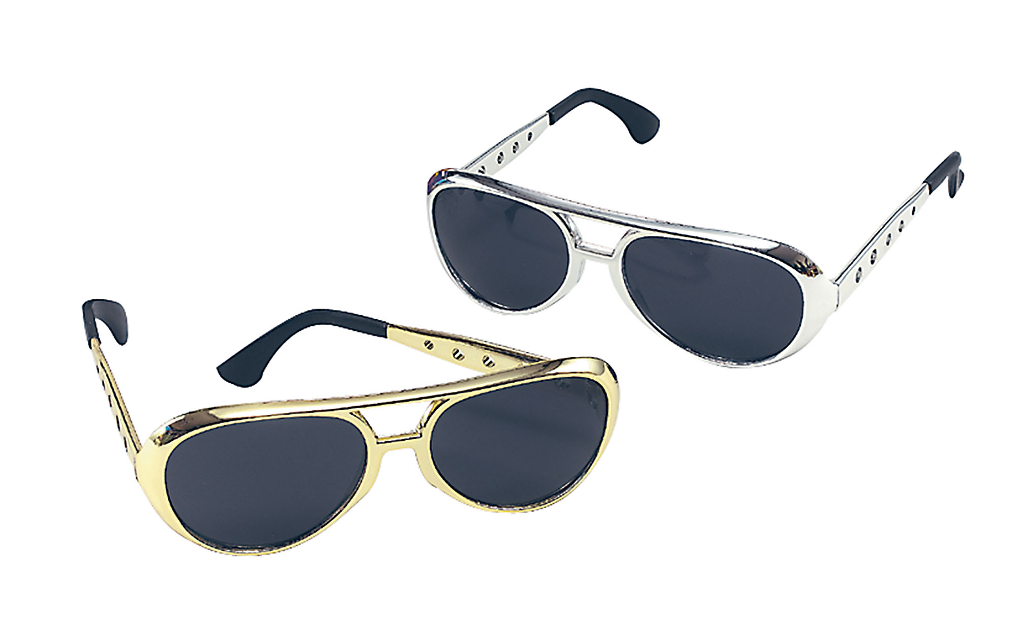 Gold-Silver coloured Elvis Rock Star Sunglasses