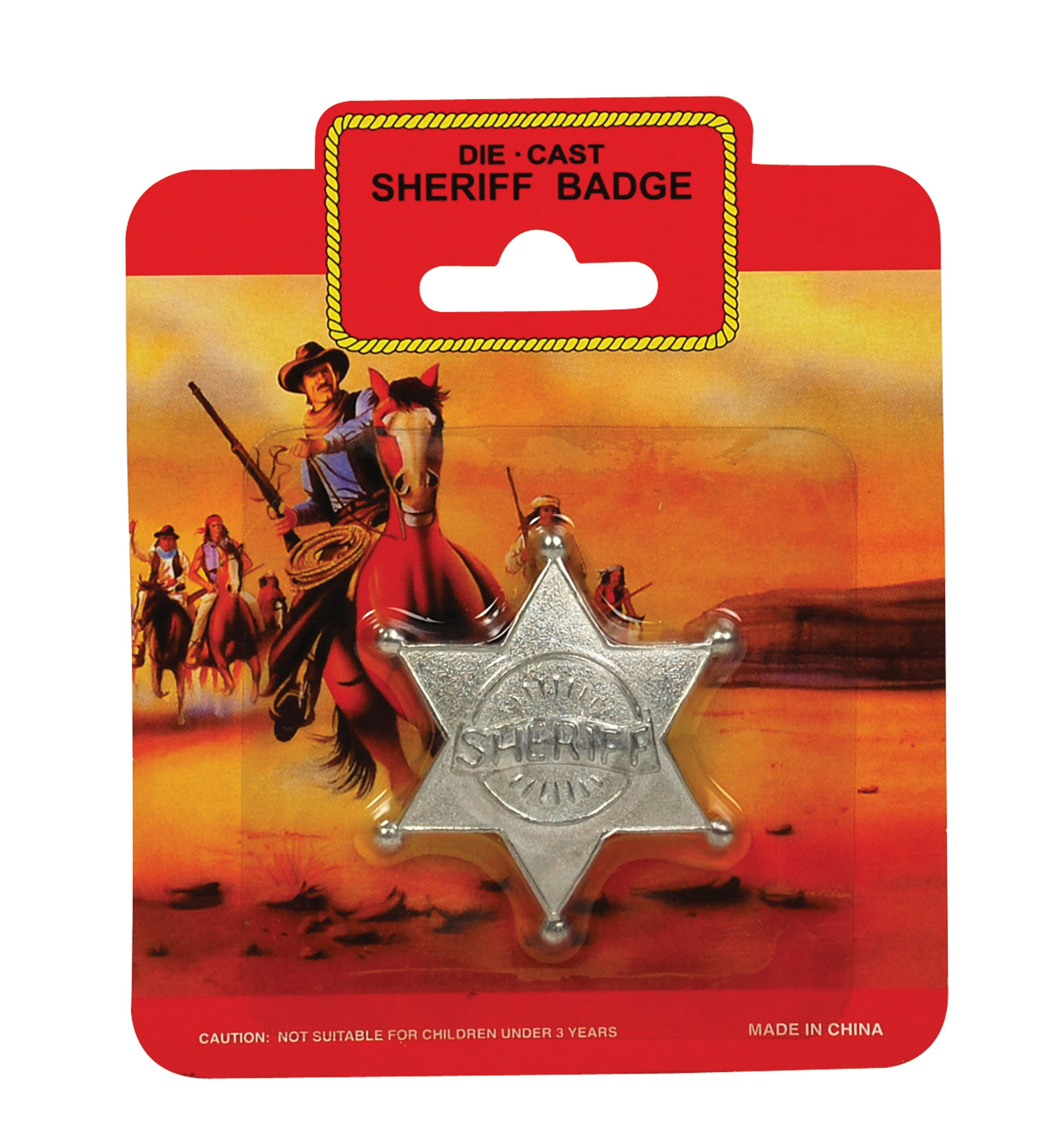 Adult Wild West Metal Sheriff Badge