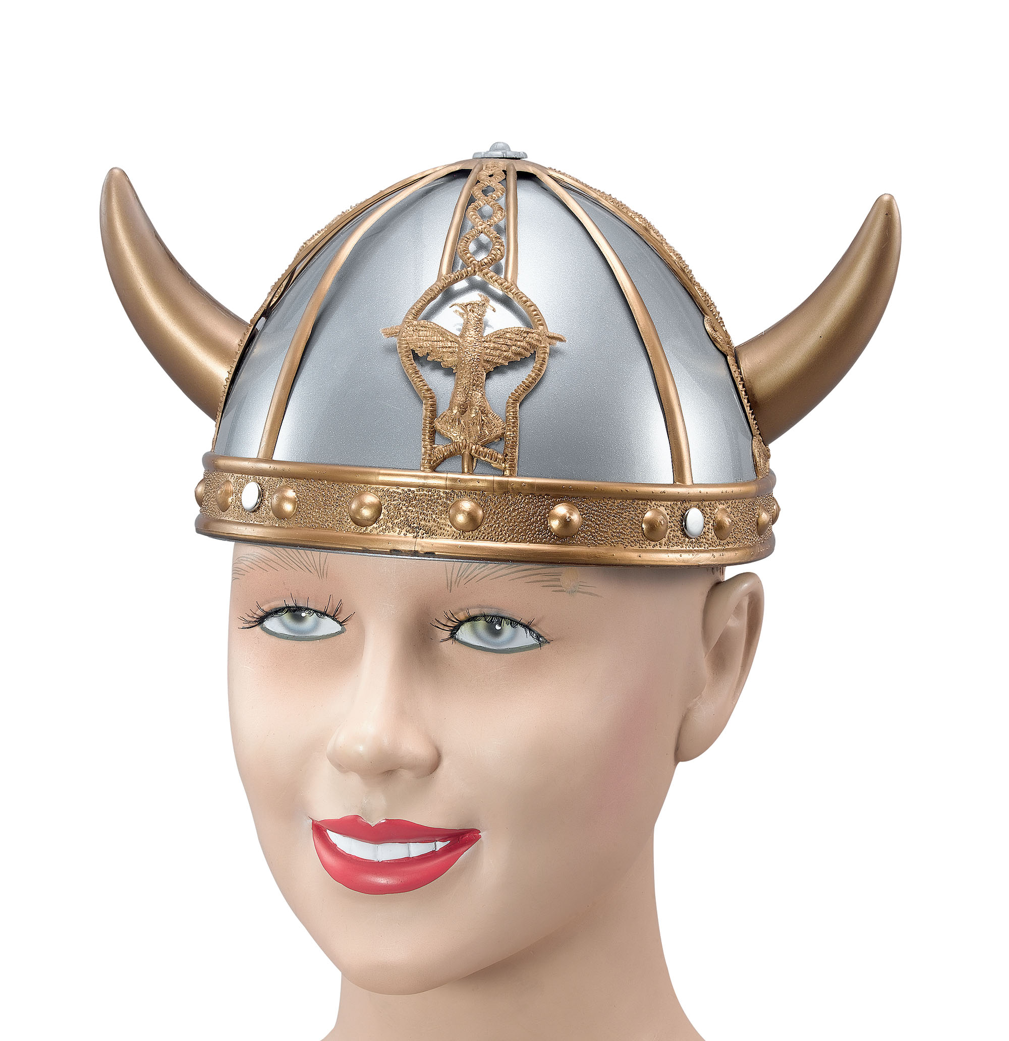 Male or Female Medieval Gold and Silver Small Viking Helmet