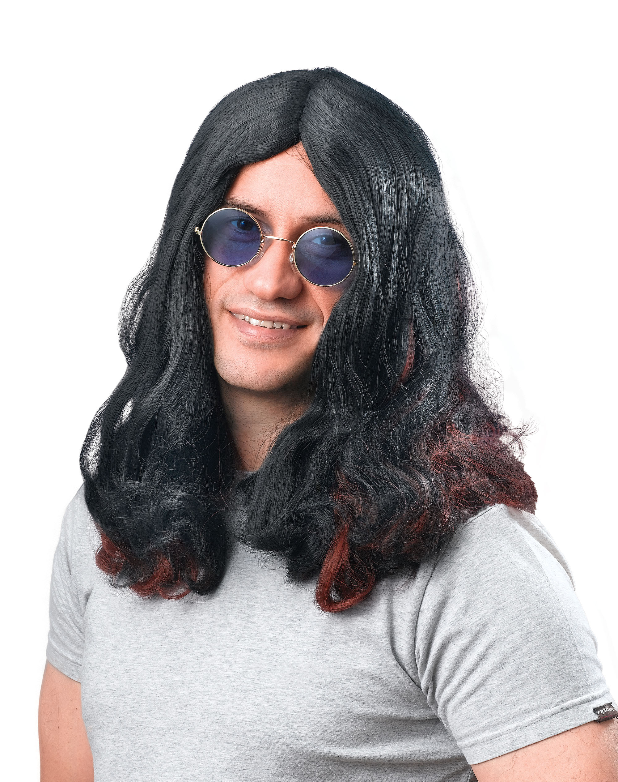 Long Black Ozzy Osbourne Wig