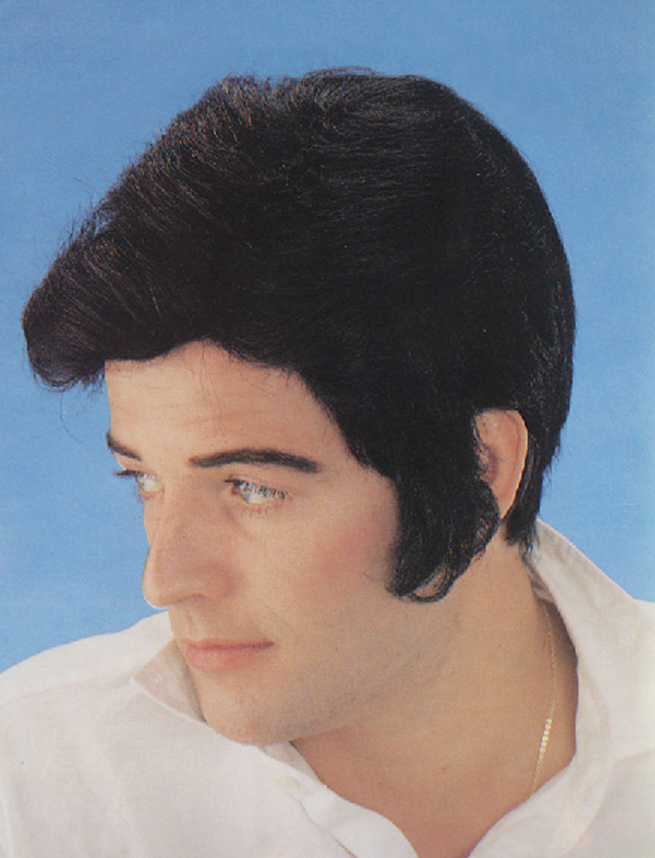 1950s Black Rock Star-Elvis Style Wig