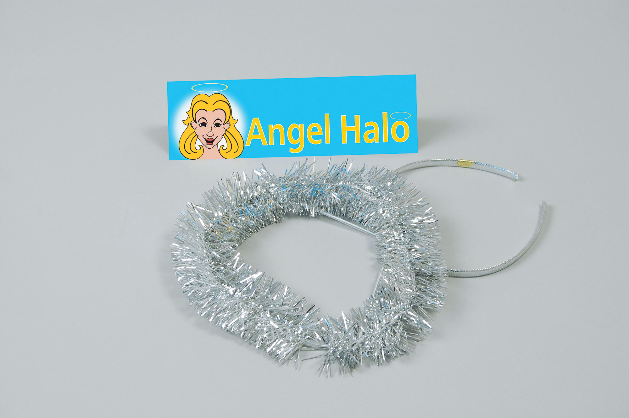 Children's or Adult Angel Silver Tinsel Halo