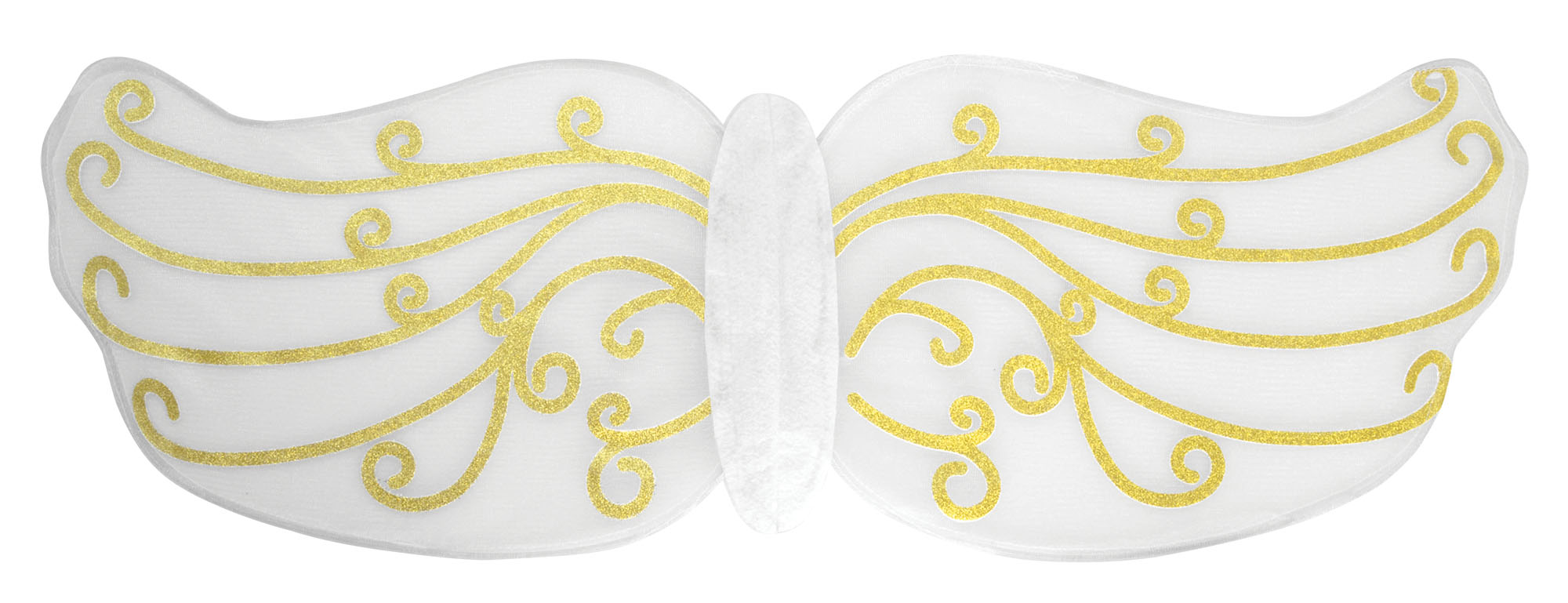 White with Gold Pattern Angel or Fairy Wings