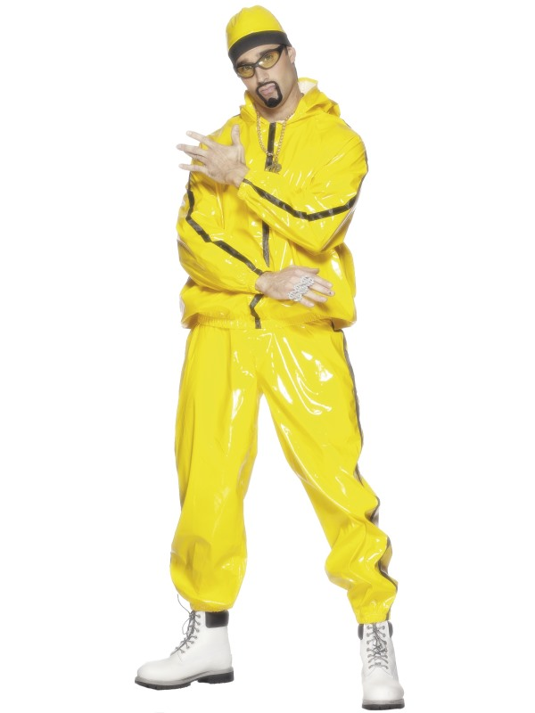 Adult Yellow, PVC, Rapper Suit