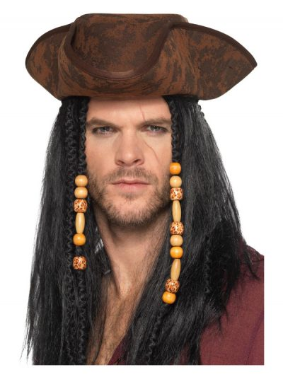 Unisex-Adult Brown Pirate Hat