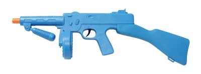 Blue Plastic 1920's Gangster Tommy Gun