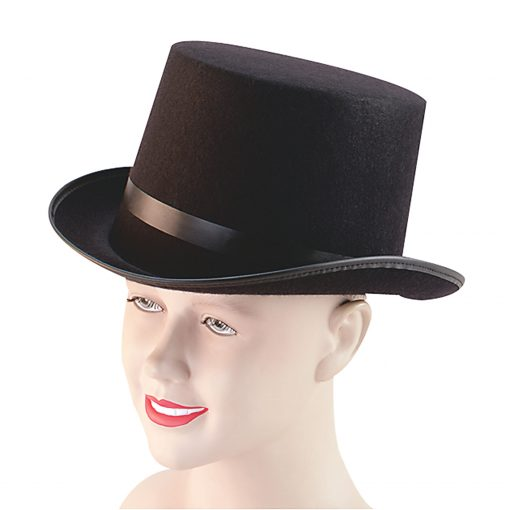 Adult Black Felt Top Hat