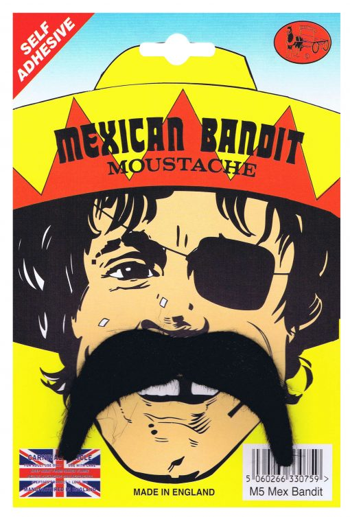 Self Adhesive Mexican Bandit Moustache