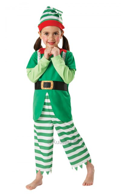 Child's Helpful Elf Boys or Girls Christmas Costume.